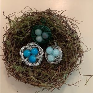 Jewelry - Wired birds nest pendants